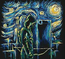 Arrow/ The Starry Night - Vincent Van Gogh by Fapthesystem