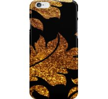 Floral Damask, Glitter Glow - Gold Black  iPhone Case/Skin