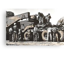 Old Industrial Machinery Canvas Print