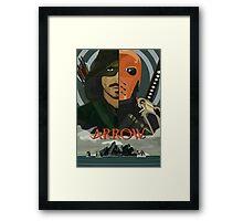 Arrow Arrow Vs. Deathstroke Framed Print