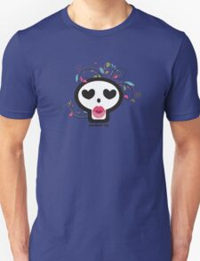Pucker up skull heart eyes flowers Valentines Day Unisex T-Shirt