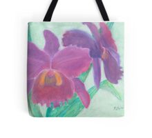 Beautiful Purple Orchid - Oil Pastel  Tote Bag