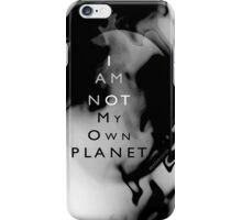 Psychmaster Space Object Not My Own Planet BW iPhone Case/Skin