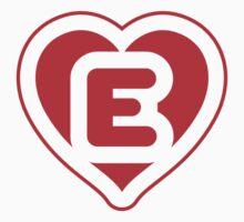 Heart E letter Kids Tee