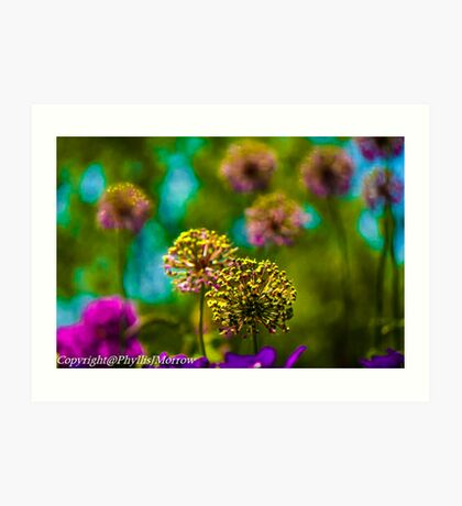 Abstract round florals Art Print
