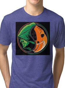 Arrow Deathstroke Yin Yang Tri-blend T-Shirt