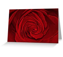 Red Satin Greeting Card