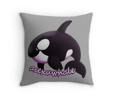 Asexuwhale Throw Pillow