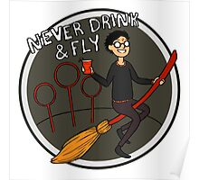 Never Drink & Fly Poster