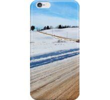 Rural Roads in Winter iPhone Case/Skin