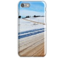 Rural Roads in Winter iPhone Case/Skin