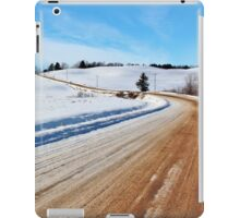 Rural Roads in Winter iPad Case/Skin