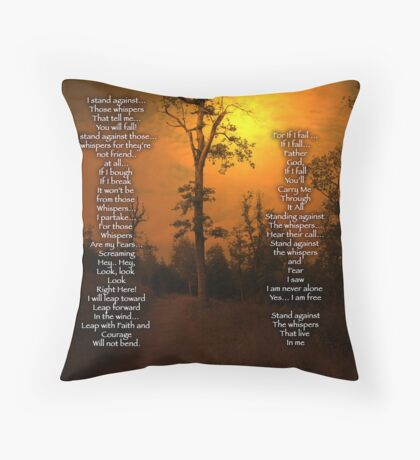 Standing Against the Whispers  Throw Pillow