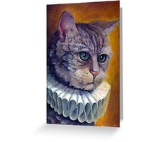 Cat in a collar Greeting Card