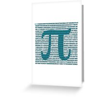 Pi Greeting Card
