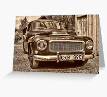 Old Volvo 2 Greeting Card