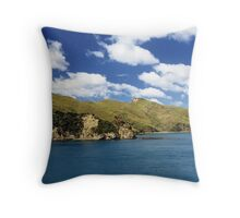 sea of blue and hills of green Throw Pillow