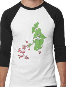 Coral Flower Men's Baseball ¾ T-Shirt