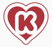 Heart K letter Kids Clothes
