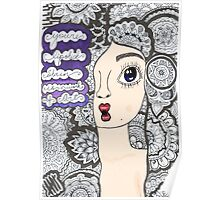 "5 sos zentangle ''she looks so perfect"" Poster"