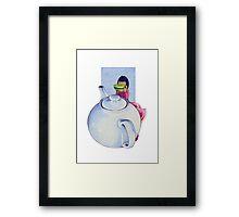 Girl with Tea Framed Print