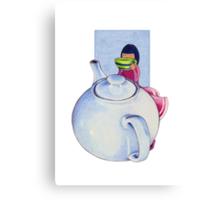 Girl with Tea Canvas Print