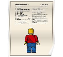 Lego Man Patent - Colour (v1) Poster