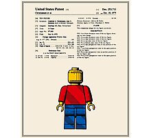 Lego Man Patent - Colour (v1) Photographic Print