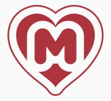 Heart M letter Kids Clothes