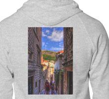 Walking around in Dubrovnik Zipped Hoodie