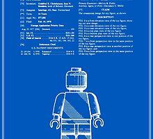 Lego Man Patent - Blueprint (v1) by FinlayMcNevin