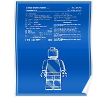 Lego Man Patent - Blueprint (v1) Poster