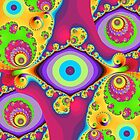 Colourful swirls and circles by walstraasart