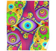 Colourful swirls and circles Poster