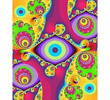 Colourful swirls and circles Photographic Print