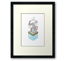 Floating World - CITY Framed Print