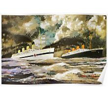 RMS Titanic and HMHS Britannic - all products except duvet Poster