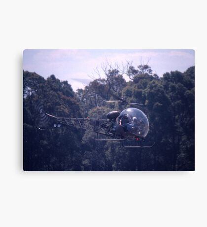 Bell 47 Helicopter @  Nowra, Australia 1997 Canvas Print