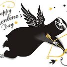 Funny sloth cupid bow arrow Valentines Day by BigMRanch