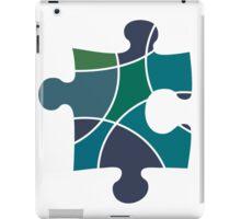 Peacock coloured puzzle piece iPad Case/Skin