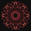 Fire Dragon Flower T - shirt by Mystikka