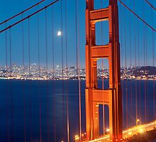 Lunar Eclipse & the Golden Gate Bridge by Heidi Hermes