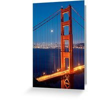 Lunar Eclipse & the Golden Gate Bridge Greeting Card