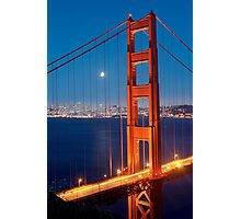 Lunar Eclipse & the Golden Gate Bridge Photographic Print