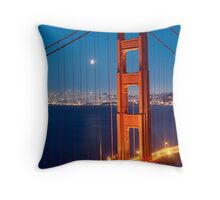 Lunar Eclipse & the Golden Gate Bridge Throw Pillow