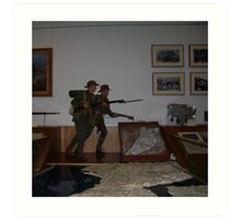 army guns(Canberra War Memorial Australia) Art Print