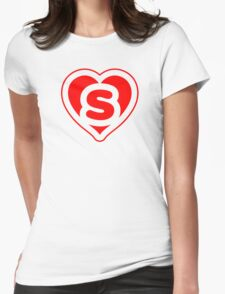 Heart S letter Womens Fitted T-Shirt