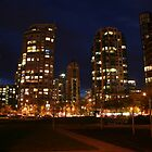 Yaletown at night by Patricia Shriver