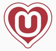 Heart U letter One Piece - Short Sleeve