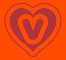 Heart V letter Kids Clothes